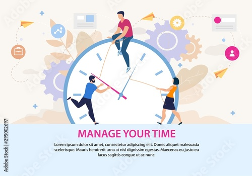 Plakat do biura  motivation-poster-with-manage-your-time-lettering