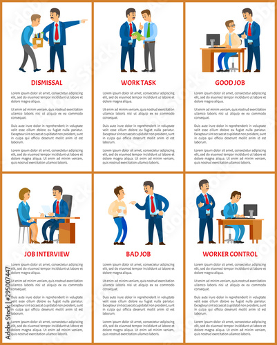 Office work, boss and employee relationships Canvas Print