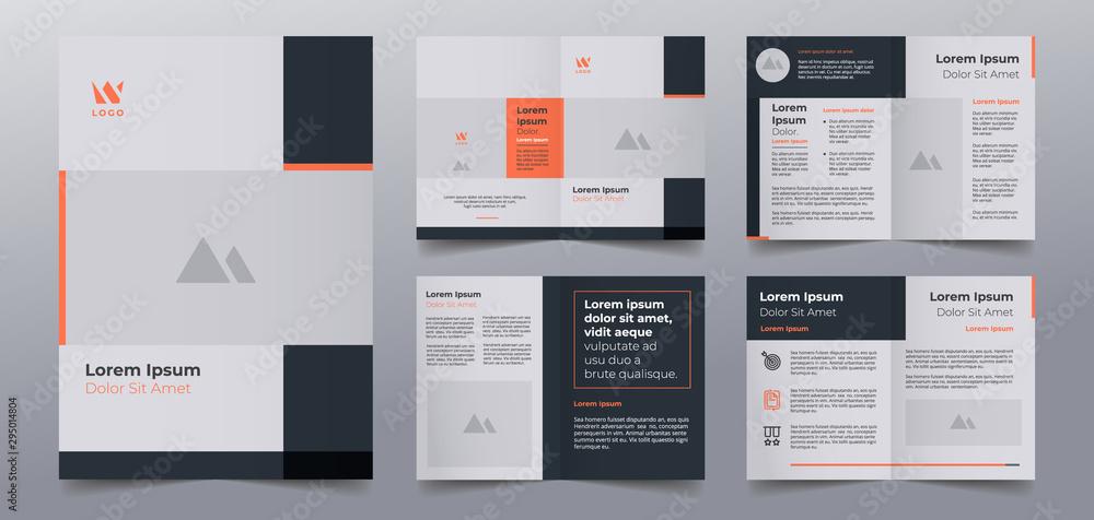 Fototapeta business brochure pages design templates