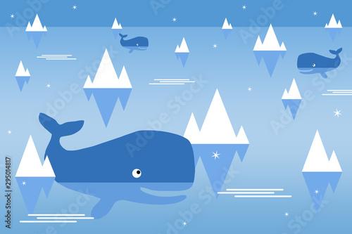 Obraz na plátně  ocean whales
