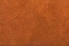 Textured Background From Orange Brown Suede