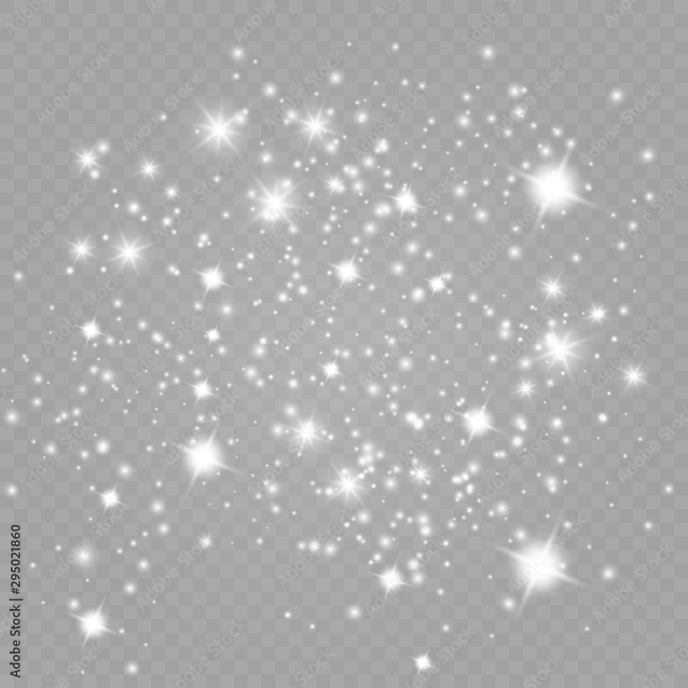 Fototapety, obrazy: Glow light effect. Vector illustration. Christmas flash Concept.