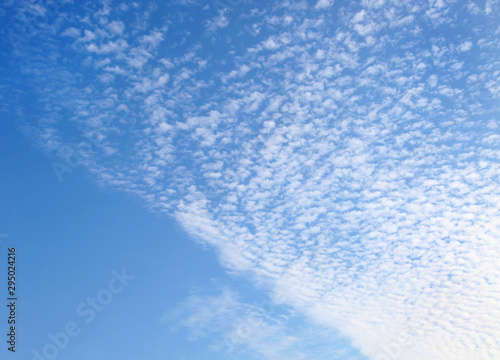 Altocumulus Wolken am blauen Himmel Wallpaper Mural