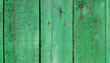 Leinwanddruck Bild - Texture of weathered wooden green painted fence