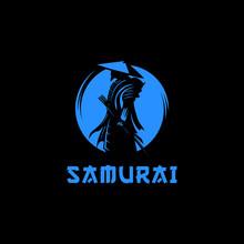 Samurai Moon Logo Design Illustration