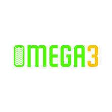 Omega 3 Logo. Wheat Symbol. Green And Yellow Icon. Vector  Illustration.
