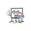 Gamer white board cartoon character with mascot
