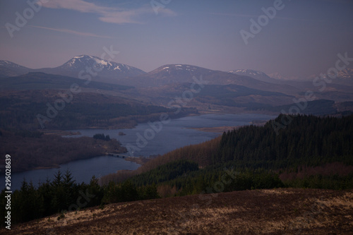 Fotografie, Obraz From the Viewpoint above Glen Garry, Scotland