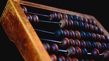 Vintage Wooden Abacus Close Up...