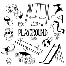 Hand Drawing Styles Playground Item. Playground Doodle.