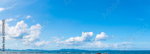 Panorama of sea and sky