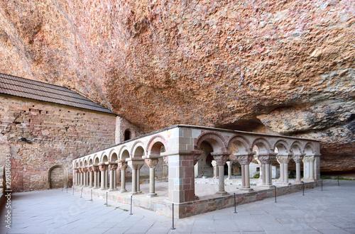Cuadros en Lienzo Cloister of old monastery of San Juan de la Pena, Huesca province, Aragon, Spain