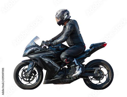 Cuadros en Lienzo racer on a sports motobike
