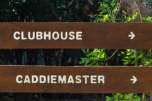 Golf Course Signs Clubhouse Ca...