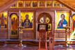 Leinwanddruck Bild - Fragment of the iconostasis in the Church in the Name of All Saints in the Siberian Land,