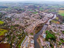 Totnes From Ariel Photo Of The Devon Town