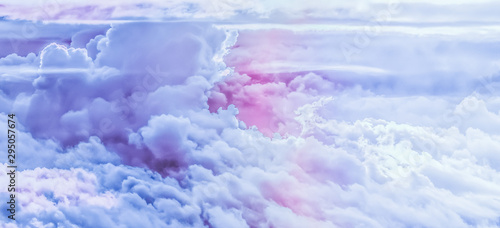 Fotomural Dreamy surreal sky as abstract art, fantasy pastel colours background for modern
