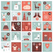 Christmas Advent Calendar. Pri...