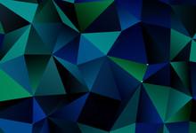 Dark Blue, Green Vector Textur...