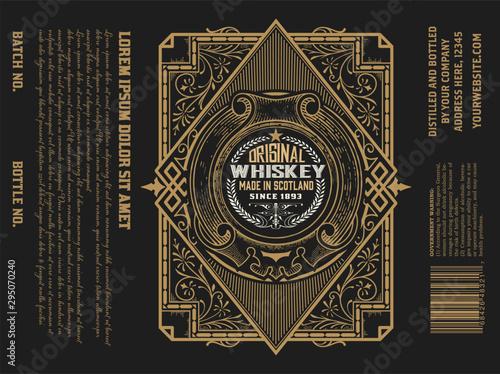 Photo  Whiskey Label vintage design retro vector illustration
