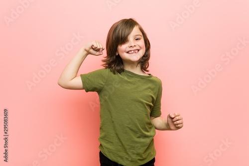 Little boy dancing and having fun. - 295083609