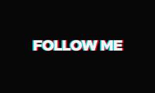 Follow Me Poster For Social Media
