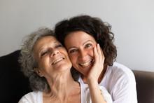 Cheerful Senior Mother And Adu...