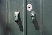 Vintage Doorknob Shaped Like Hands