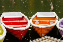 Colorful Boats Docked On The E...