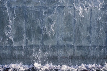 Running Water On Stone Background Texture