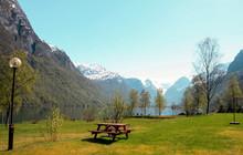 Picnic Place On Lake