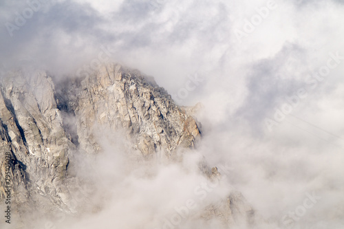 Fototapety, obrazy: Rocky mountain cliffs in thunderclouds