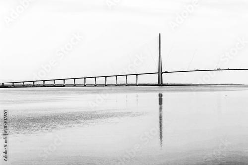 Normandy bridge and seine river estuary