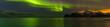 canvas print picture - Nordlichter bei Myrland auf den Lofoten