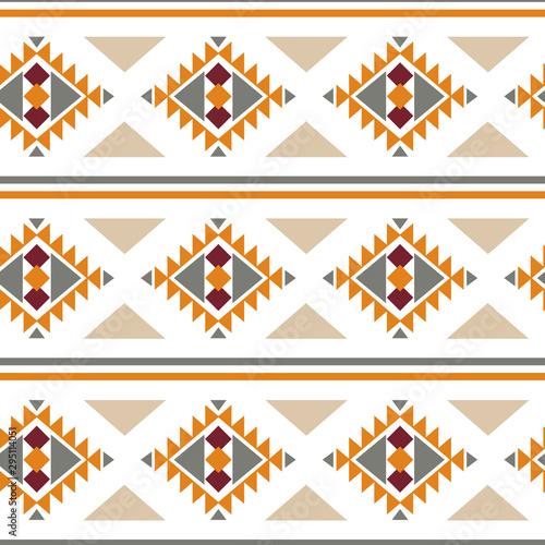 Autocollant pour porte Style Boho Tribal southwestern native american navajo seamless pattern