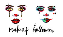 Halloween Party Makeup, Face-up For A Carnival Event, An Example Of A Sexy Make-up For An Event