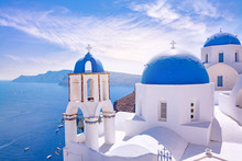 Beautiful Oia Town On Santorin...