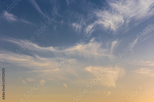 Obraz Beautiful air clouds at sunset - fototapety do salonu