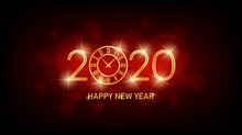 Golden Happy New Year 2020 Wit...