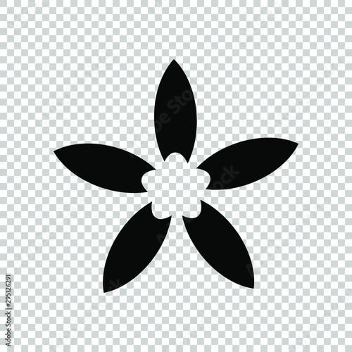 Photographie  jasmine icon flat vector illustration