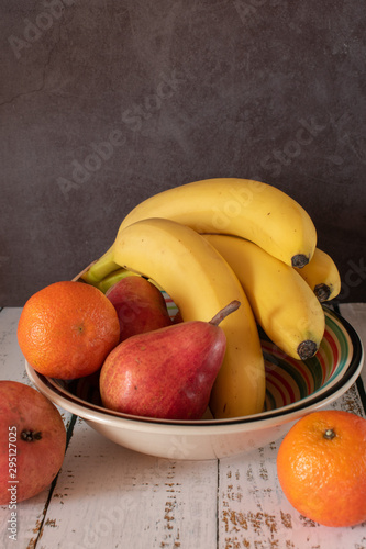 Fruits bowl with various fruits