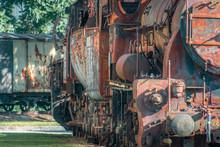 Rusting Steam Locomotive Close...