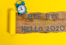 Writing Note Showing Bye Bye 2...