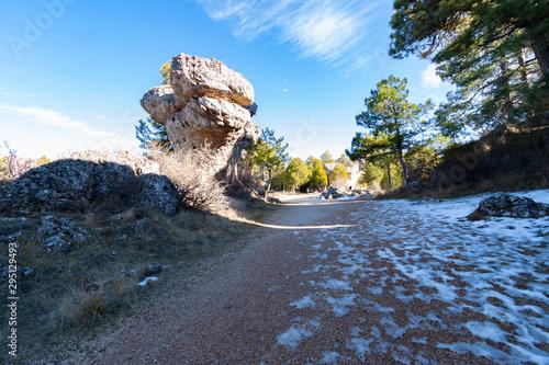 Fényképezés  Cuenca;Spain,1,2012;Enchanted City is a natural site of limestone or limestone r