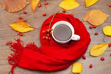 Autumn Tea Mug Wrapped In A Wa...