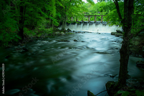 Wall Murals Forest river Maine Waterfall