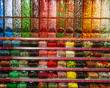 colorful candy store shelves with variety of flavors