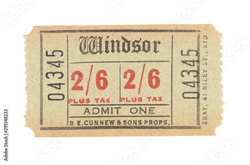 Fotografía Eintrittskarte ticket 50c Vintage retro USA Amerika England 04345 Papier beige A