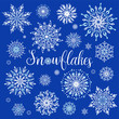 Set of snowflakes. Vector