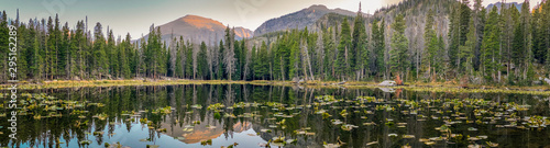 Reflections on Nymph Lake in Rocky Mountain National Park